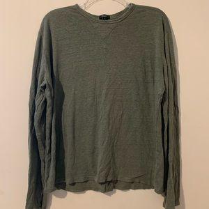 Rails Green Crewneck Long Sleeve Shirt W3